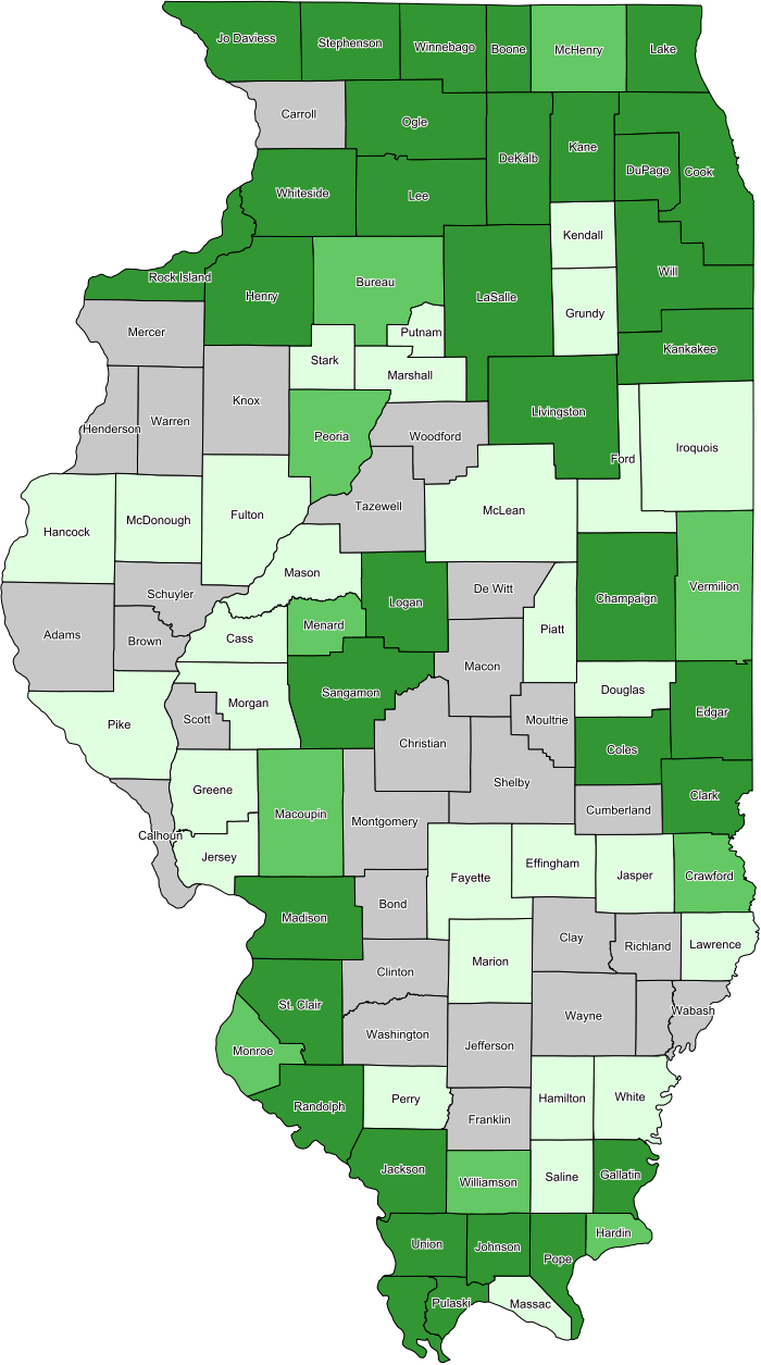 maps of illinois counties. Illinois Coverage Map