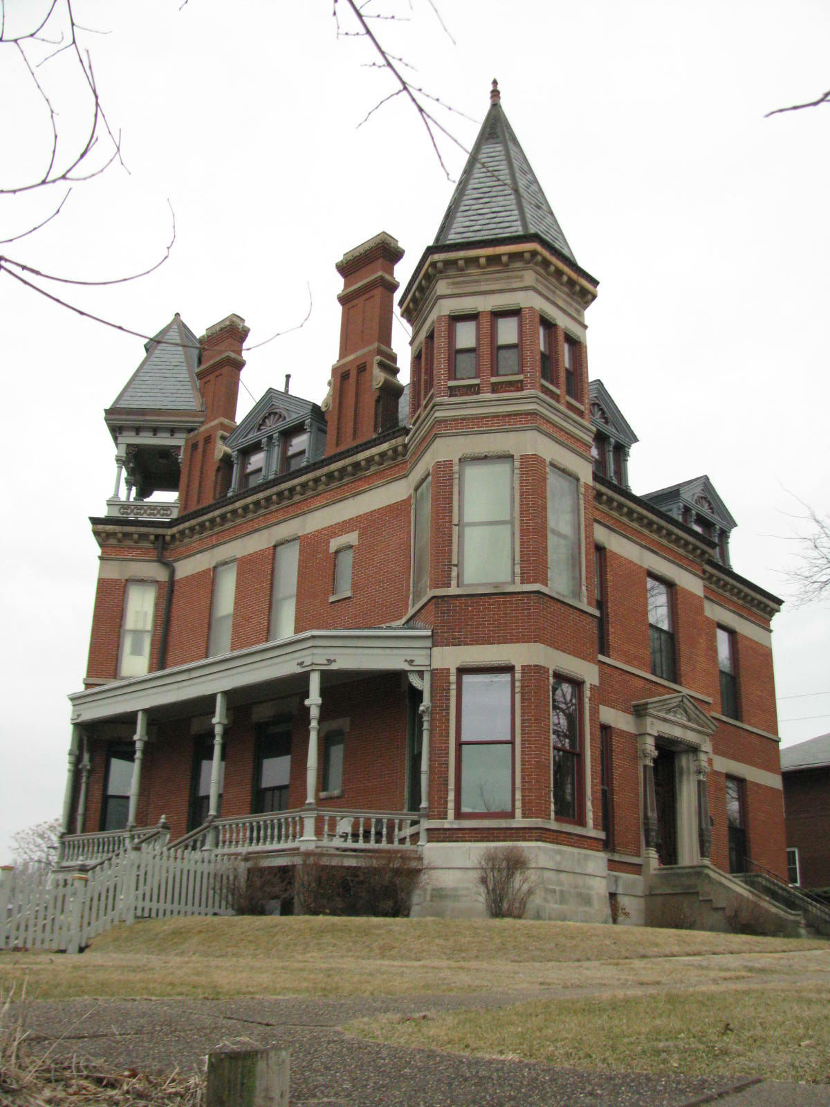 Victorian Mansion Floor Plan Buildings And Structures In Muscatine County Iowa